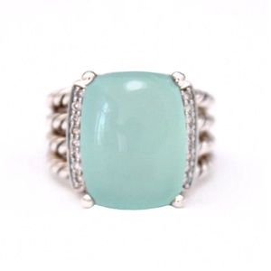 David Yurman Chalcedony Diamond Wheaton Ring